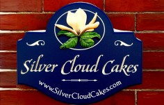 Silver Cloud Cakes Sign on Location