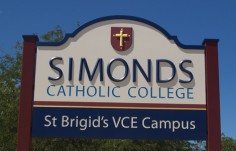 Simonds School Sign