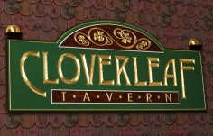 Cloverleaf Tavern Pub Sign