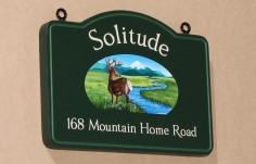 Solitude Cabin Sign