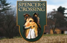 Spencer's Crossing Sign