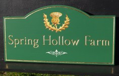 Spring Hollow Farm Sign