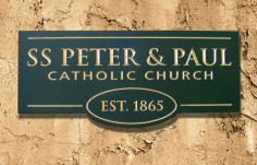 SS Peter and Paul Church Sign