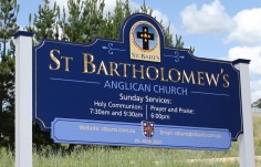 St. Bartholomew's Church Sign