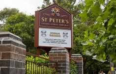 St. Peters Catholic Church Sign