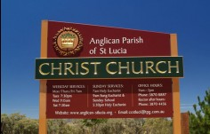 Christ Church St. Lucia Welcome Sign