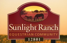 Sunlight Ranch Horse Sign