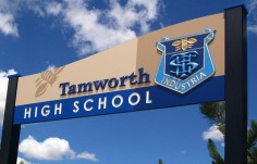 Tamworth High School Welcome Sign