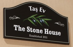 The Stone House Name Sign