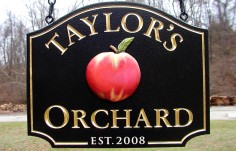 Taylor's Orchard Farm Sign