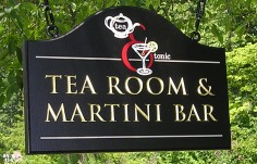 Tea Room Pub Sign