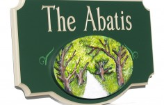 The Abatis Family Name Sign
