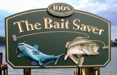 The Bait Saver Fishing Sign