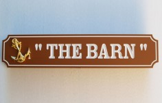 The Barn Quarterboard Sign