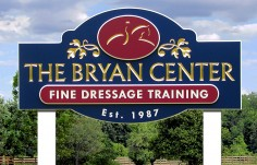 The Bryan Center Dressage Sign