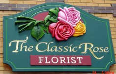 The Classic Rose Business Sign