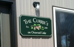 The Curries Man Cave Sign on Site