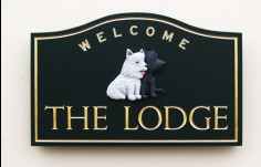 The Lodge House Sign
