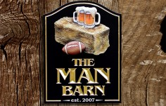 The Man Barn Bar Sign