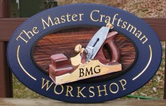 The Master Craftsman Retail Sign Detail