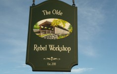 The Olde Rebel Workshop Sign