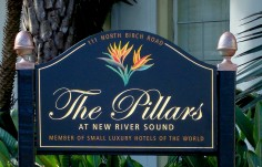 The Pillars Hotel Sign