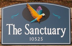 The Sanctuary Bird Sign