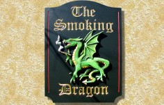 The Smoking Dragon Bar Sign