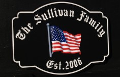 The Sullivan Family House Sign