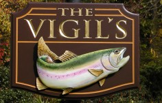 The Vigils Fishing Sign