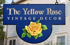 The Yellow Rose Retail Sign