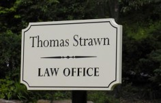 Thomas Strawn Law Office Sign
