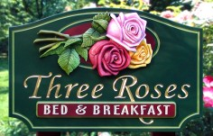 Three Roses Bed and Breakfast Sign