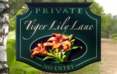 Tiger Lily Property Sign Thumb
