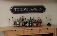 Todd's Tavern Bar Sign on Site