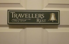 Travellers Rest Bed & Breakfast Sign on Site