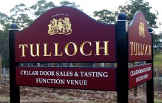 Tulloch Winery Sign