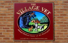 Village Vet Veterinary Sign