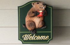 Groundhog Welcome Sign