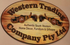 Western Trading Company Sign