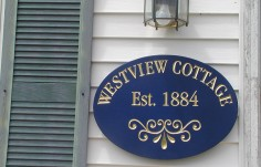 Westview Cottage Sign on Location