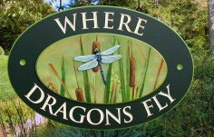 Where Dragons Fly Wildlife Sign