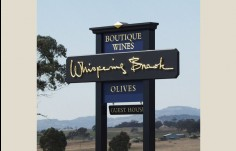 Whispering Brook Winery  Sign