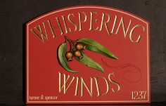 Whispering Winds Property Sign