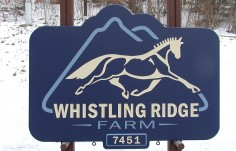 Whistling Ridge Farm Sign