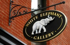 White Elephant Animal Sign