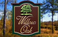 Willow Oak Property Sign