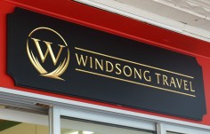 Windsong Travel Small Business Sign