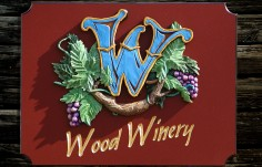 Wood Winery Sign