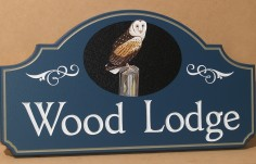 Wood Lodge Property Sign